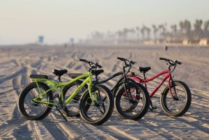 electric bikes on sand